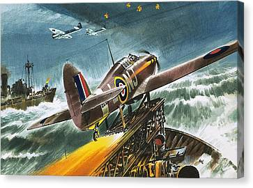 Merchant Navy Fighter Canvas Print by Wilf Hardy