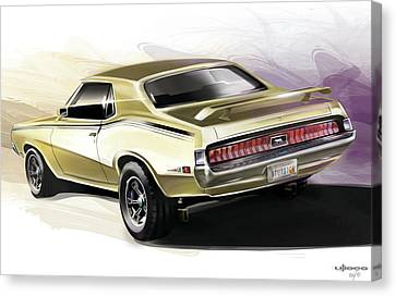 Mercury Cougar Eliminator Canvas Print by Uli Gonzalez