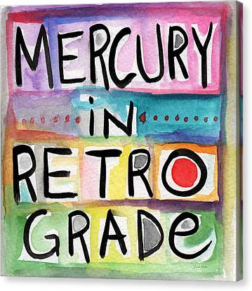 Book Cover Canvas Print - Mercury In Retrograde Square- Art By Linda Woods by Linda Woods