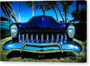 1949 Merc Canvas Print - Mercury Mouthful by Customikes Fun Photography and Film Aka K Mikael Wallin