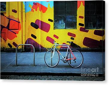 Canvas Print featuring the photograph Mercury Raleigh Bicycle by Craig J Satterlee