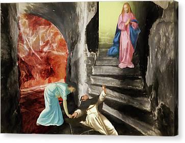 Our Torments Canvas Print - Mercy by John Haldane