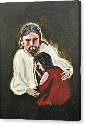 Mercy, No Sin To Great Canvas Print