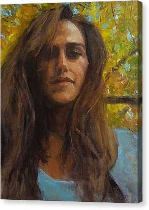 Meredith In Autumn Canvas Print by Brian Kardell