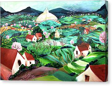 Meredith's Valley Canvas Print by Tatjana Krizmanic