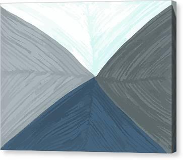 Canvas Print featuring the drawing Merge by Jill Lenzmeier