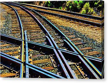 Merged Canvas Print - Merging Tracks by Garry Gay