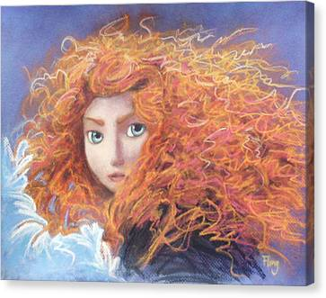 Merida From Pixar's Brave Canvas Print by Andrew Fling