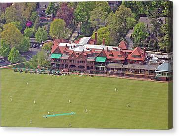 Merion Cricket Club Cricket Festival Clubhouse Canvas Print by Duncan Pearson