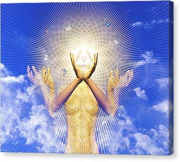 Canvas Print featuring the painting Merkaba Awakening by Robby Donaghey