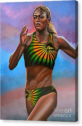Merlene Ottey Canvas Print by Paul Meijering