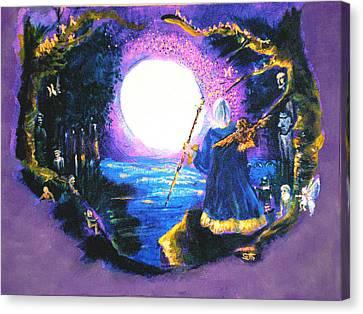 Merlin's Moon Canvas Print by Seth Weaver