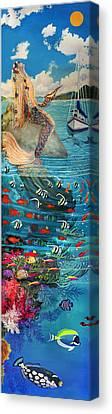 Mermaid In Paradise Canvas Print by Bonnie Siracusa