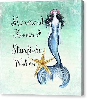 Mermaid Kisses Canvas Print