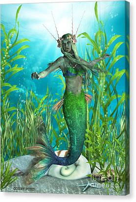 Mermaid Realms Canvas Print by Corey Ford