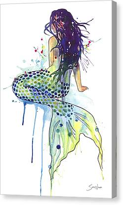 Mermaid Canvas Print by Sam Nagel