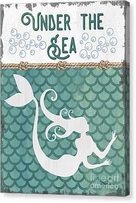Maid Canvas Print - Mermaid Waves 2 by Debbie DeWitt