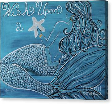 Mermaid- Wish Upon A Starfish Canvas Print