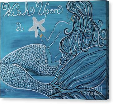 Canvas Print - Mermaid- Wish Upon A Starfish by Megan Cohen
