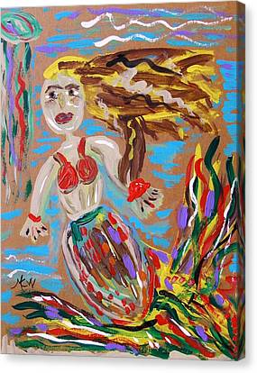 Mermaid With A Fantastic Fin Canvas Print