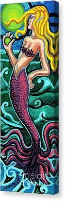 Mermaid With Pearl Canvas Print by Genevieve Esson