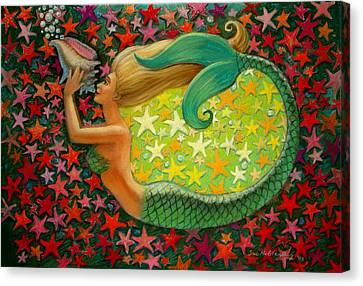 Mermaid's Circle Canvas Print by Sue Halstenberg