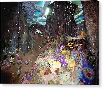 Mermaid's Home Canvas Print by Nancy Pauling