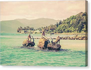 Mermaids In The Sun Canvas Print