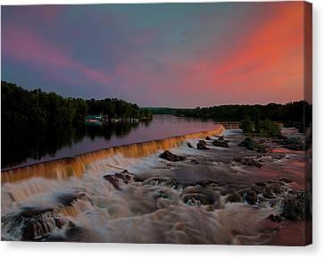Merrimack River Falls Canvas Print