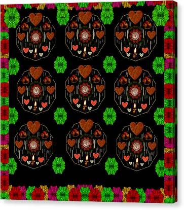 Merry And Happy  Candy With Flair Canvas Print