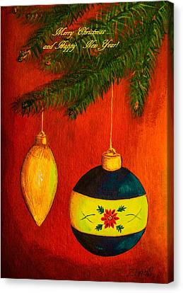 Merry Christmas And Happy New Year II Canvas Print by Zina Stromberg