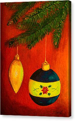 Merry Christmas And Happy New Year Canvas Print by Zina Stromberg
