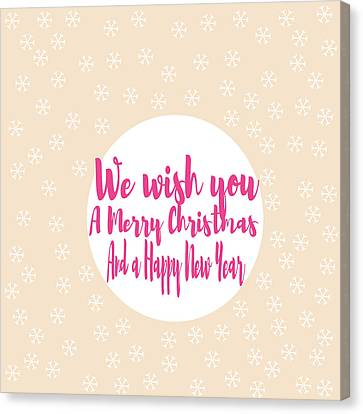 Merry Christmas Art Canvas Print by Suzanne Carter