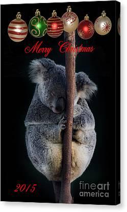 Merry Christmas Card Canvas Print by Barbara Dudzinska