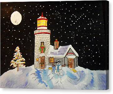 Merry Christmas  Canvas Print by Connie Valasco