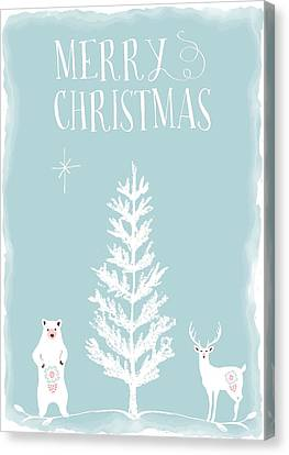 Merry Christmas Funky Animals  Canvas Print by Amanda Lakey