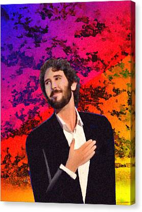Merry Christmas Josh Groban Canvas Print by Angela A Stanton