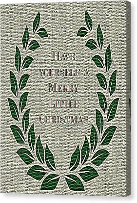 Merry Christmas Canvas Print by Kathy Bucari