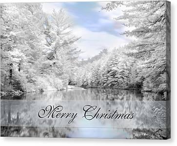 Merry Christmas - Lykens Reservoir Canvas Print by Lori Deiter