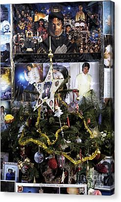 Merry Christmas Michael Jackson Canvas Print by John Rizzuto