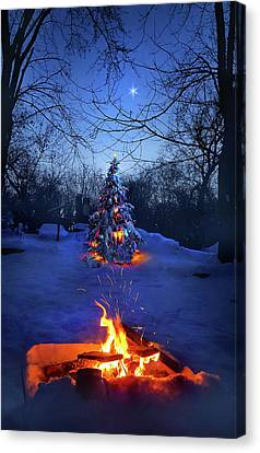 Canvas Print featuring the photograph Merry Christmas by Phil Koch