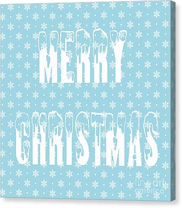 Merry Christmas Pillow Canvas Print by Edward Fielding