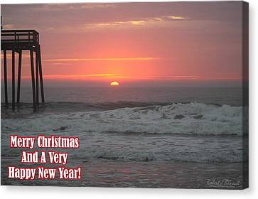 Merry Christmas Sunrise  Canvas Print