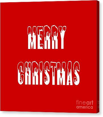 Merry Christmas Tee Canvas Print by Edward Fielding