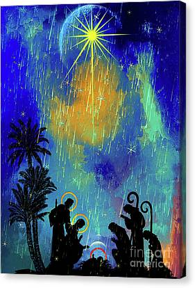 Canvas Print featuring the painting  Merry Christmas To All. by Andrzej Szczerski