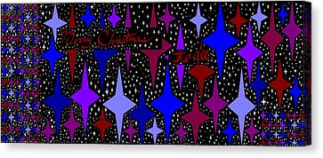 Merry Christmas To All, Starry, Starry Night Canvas Print