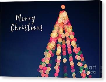Merry Christmas Tree Card Canvas Print by Edward Fielding