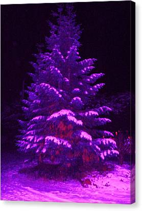 Merry Christmas Tree Canvas Print by Laurie Kidd