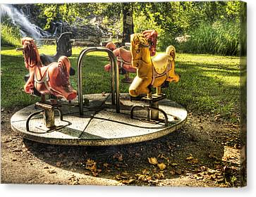 Canvas Print featuring the photograph Merry-go-round by Tamyra Ayles