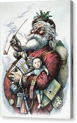 Merry Old Santa Claus Canvas Print by Granger